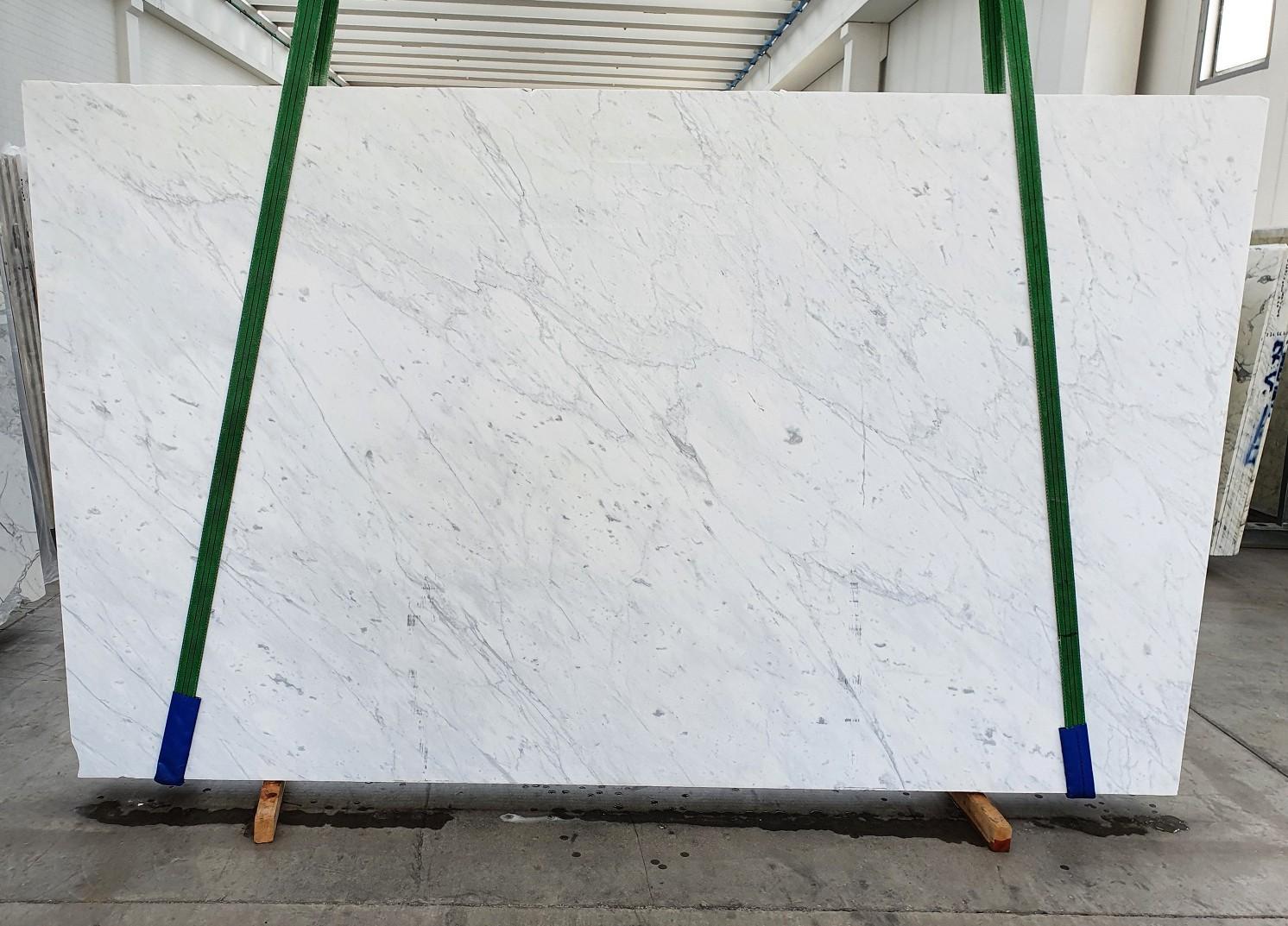 BIANCO CARRARA C Fourniture Veneto (Italie) d' dalles brillantes en marbre naturel 1441 , Slab #19