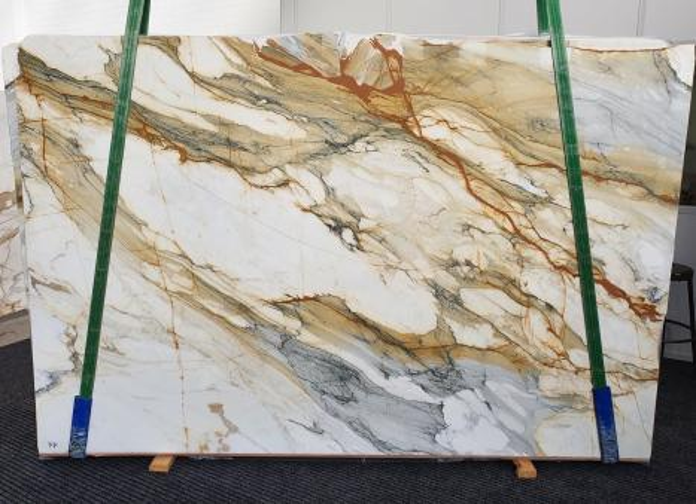 CALACATTA MACCHIAVECCHIA Fourniture Veneto (Italie) d' dalles brillantes en marbre naturel 1422 , Slab #11