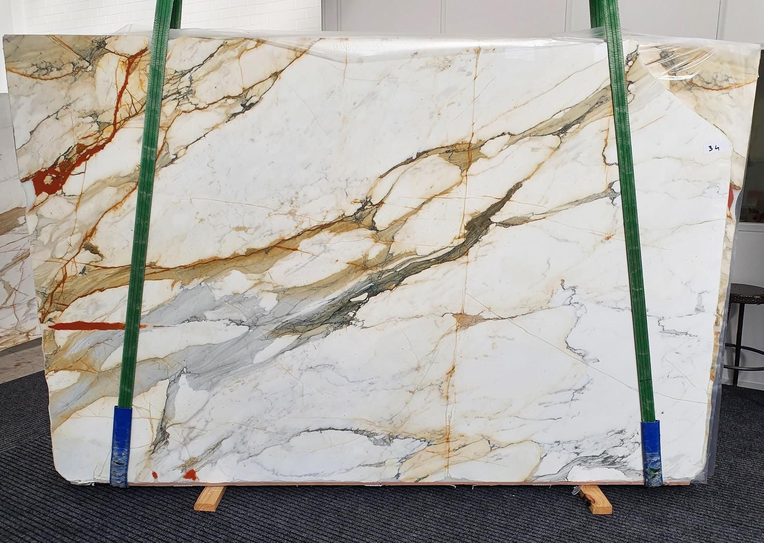 CALACATTA MACCHIAVECCHIA Fourniture Veneto (Italie) d' dalles brillantes en marbre naturel 1422 , Slab #34