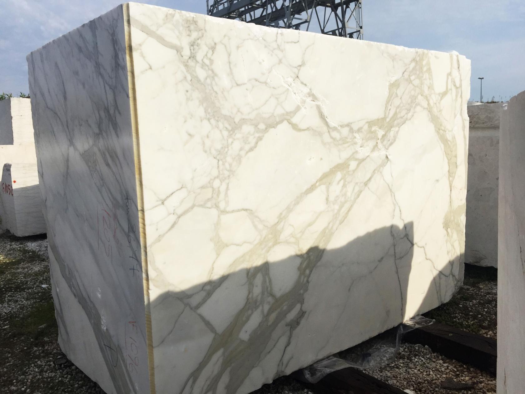 CALACATTA ORO EXTRA Fourniture (Italie) d' blocs bruts en marbre naturel 2628 , Face B
