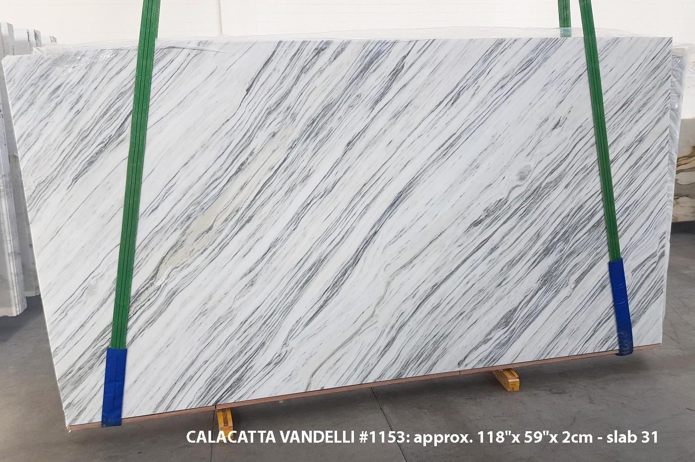 Calacatta Vandelli Fourniture (Italie) d' dalles brillantes en marbre naturel 1153 , Slab #31