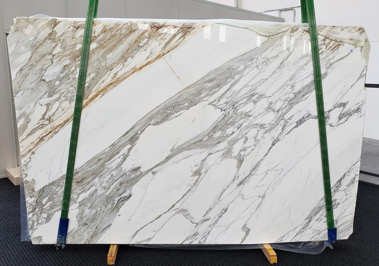 CALACATTA Fourniture Veneto (Italie) d' dalles brillantes en marbre naturel 1344 , A - slab #01