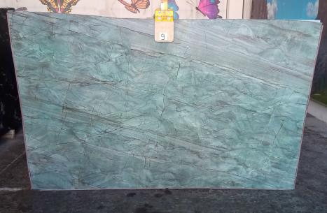 EMERALD GREEN Fourniture Veneto (Italie) d' dalles brillantes en quartzite naturel Z0209 , Slab #09