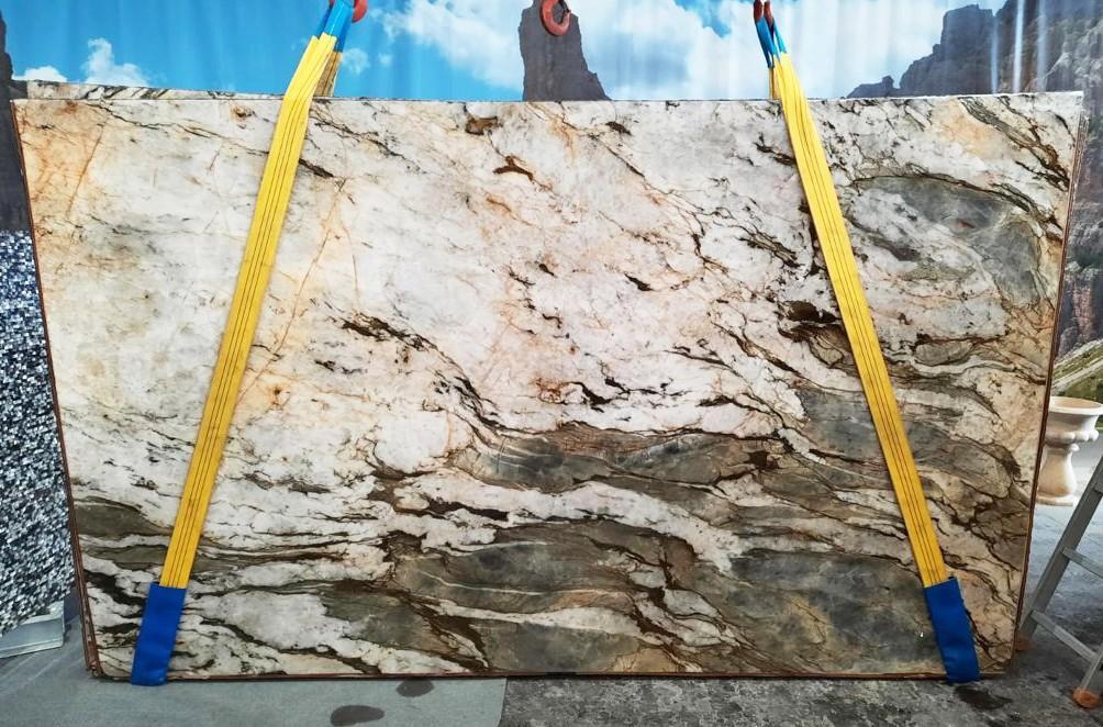 FUSION MISTIC Fourniture Veneto (Italie) d' dalles brillantes en quartzite naturel U0113 , Slab #26
