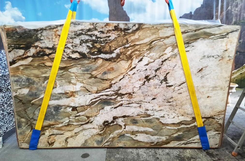 FUSION MISTIC Fourniture Veneto (Italie) d' dalles brillantes en quartzite naturel U0113 , Slab #47