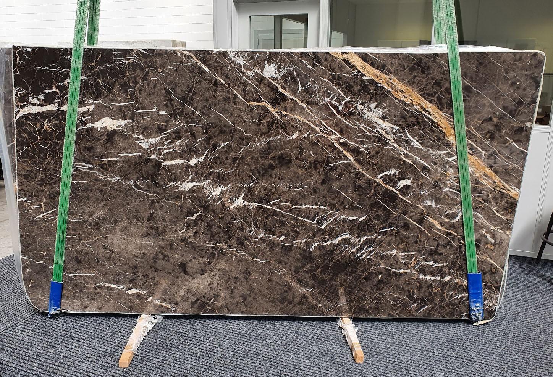 MARRON IRIS Fourniture Veneto (Italie) d' dalles brillantes en marbre naturel 1404 , Slab #26