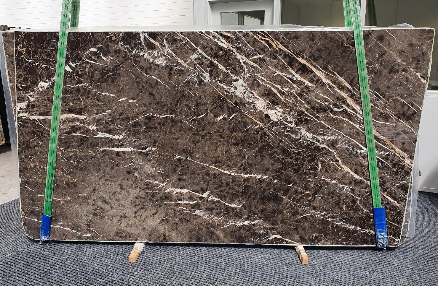 MARRON IRIS Fourniture Veneto (Italie) d' dalles brillantes en marbre naturel 1404 , Slab #34