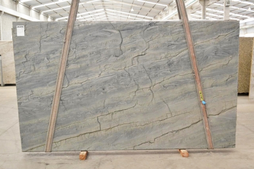 OCEAN BLUE Fourniture (Italie) d' dalles brillantes en quartzite naturel 2382 , Bnd #26299