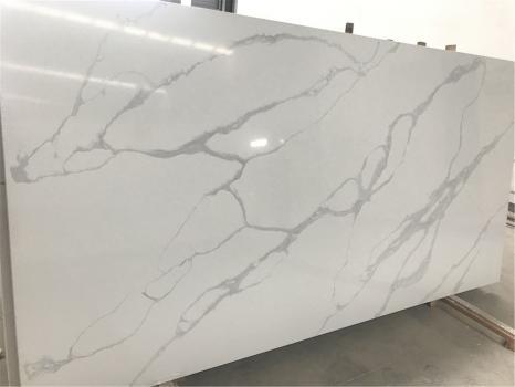 POMPEIdalle quarz du Vietnam brillant SL3CM,  320 x 160 x 3 cm pierre aggloméré artificiel (disponible en Hai Phong, Vietnam)