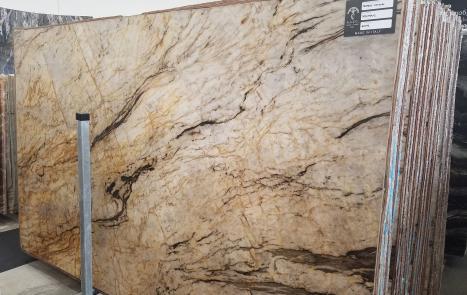 TEMPEST CRISTALLO 39 dalles quartzite brésilien brillant SL2CM,  326 x 194 x 2 cm pierre naturel (disponibles en Veneto, Italie)