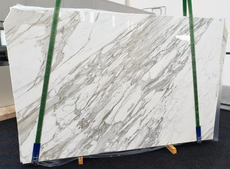 CALACATTAdalle marbre italien brillant C - slab #22,  300 x 200 x 3 cm pierre naturel (disponible en Veneto, Italie)