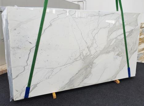 CALACATTA EXTRAdalle marbre italien brillant Slab #63,  350 x 195 x 2 cm pierre naturel (disponible en Veneto, Italie)