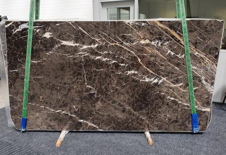 MARRON IRISdalle marbre espagnol brillant Slab #18,  290 x 160 x 2 cm pierre naturel (disponible en Veneto, Italie)