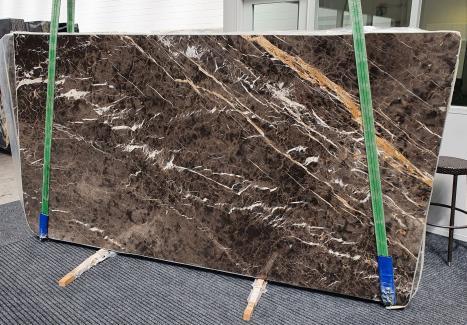 MARRON IRISdalle marbre espagnol brillant Slab #26,  290 x 160 x 2 cm pierre naturel (disponible en Veneto, Italie)