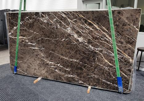 MARRON IRISdalle marbre espagnol brillant Slab #34,  290 x 160 x 2 cm pierre naturel (disponible en Veneto, Italie)