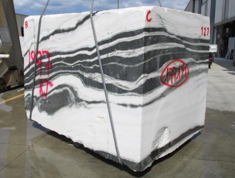 PANDA 1 bloc marbre chinois brut Face B,  260 x 184 x 190 cm pierre naturel (disponible en Veneto, Italie)