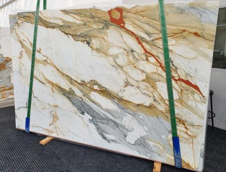 CALACATTA MACCHIAVECCHIAdalle marbre italien brillant Slab #19,  300 x 195 x 2 cm pierre naturel (disponible en Veneto, Italie)