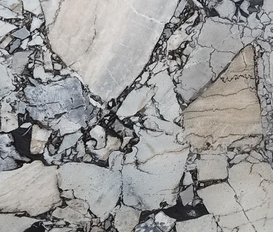 Détaille technique: BEAUTY GREY, marbre naturel brillant grec