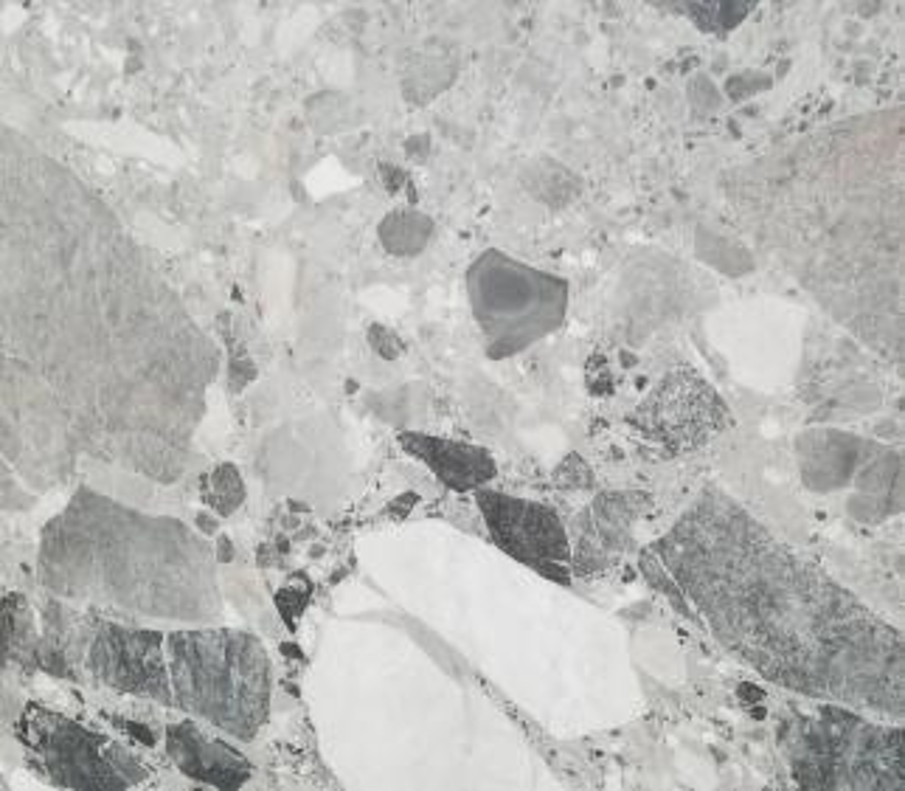 Détaille technique: Babylon Grey, marbre naturel brillant macédoinen