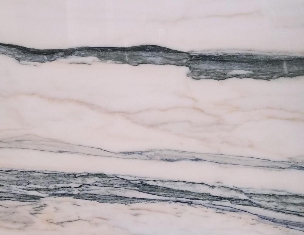 Détaille technique: CALACATTA SAINT TROPEZ, marbre naturel brillant portugais
