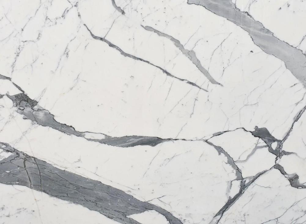 Détaille technique: STATUARIO EXTRA, marbre naturel brillant italien