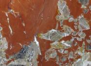 Détaille technique: ROSSO ANTICO, marbre naturel brillant français