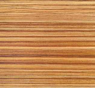 Détaille technique: Zebrawood Quartered, Zebrano plaqué brillant du Cameroun
