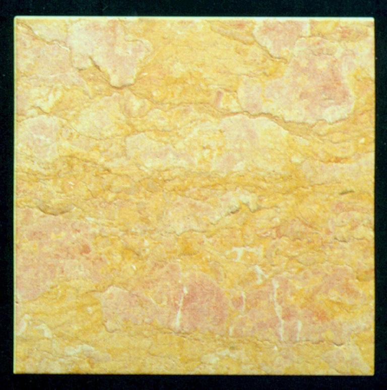 Détaille technique: GIALLO REALE ROSATO, marbre naturel antiqué et ciré italien