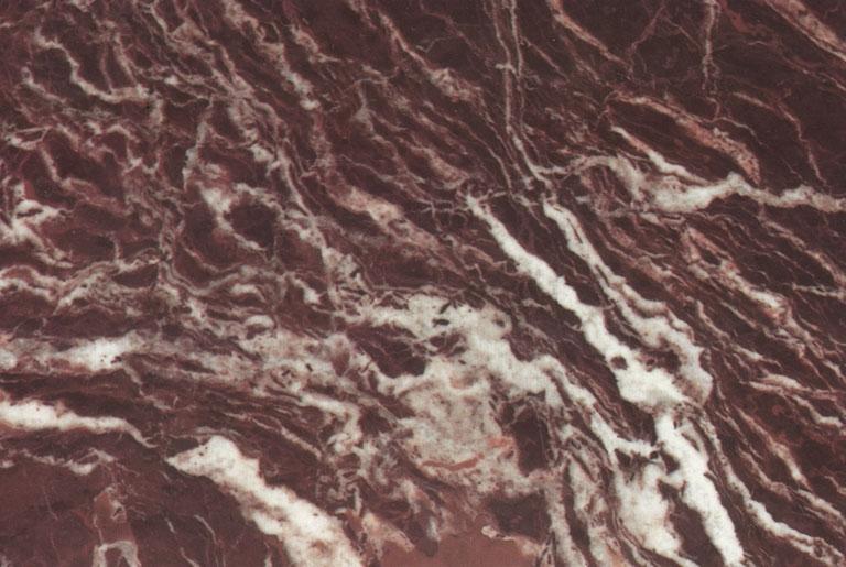 Détaille technique: ROSSO LEVANTO, marbre naturel brillant italien